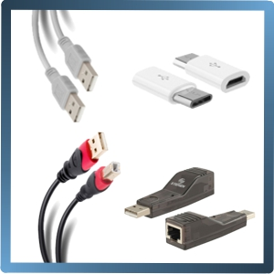 USB CABLES, ACCESORIOS, ADAPTADORES